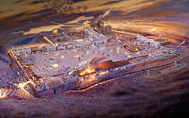 Siege of the Alamo begins
