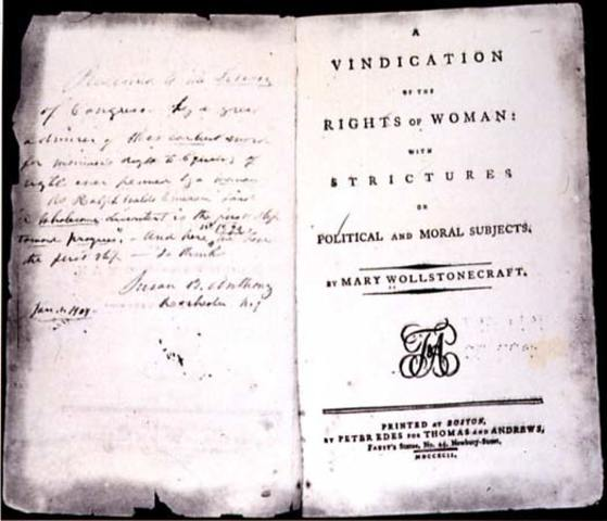 Mary Wollstonecraft, Vindication of the Rights of Woman, 1792