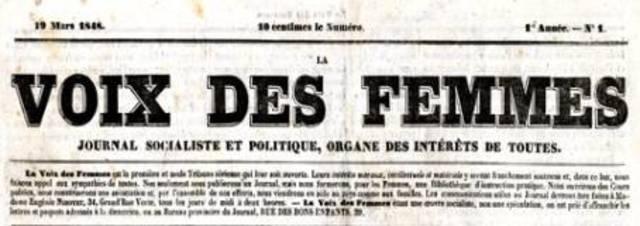 La Voix Des Femmes, 1848