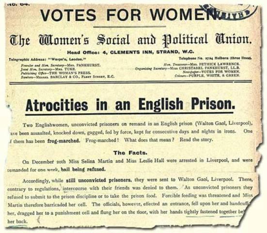 Suffragettes in Prison, 1909