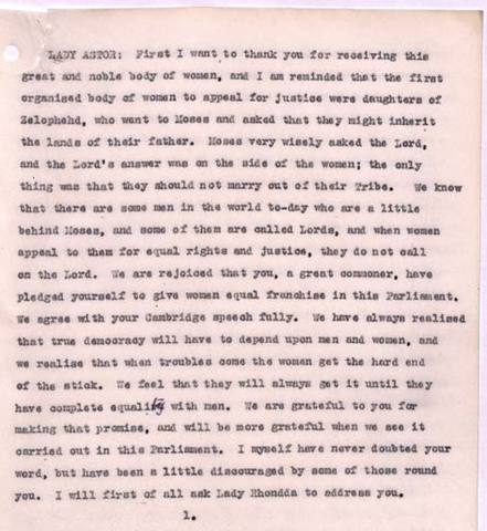 Enfranchisement of Women, 1927 Ireland