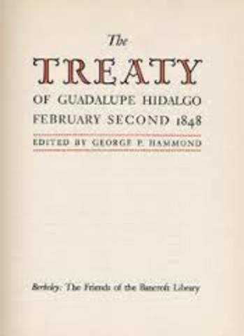 TREATY OF GUADALUPE HIDALGO IS SIGHN