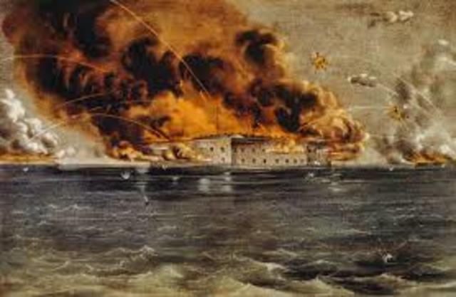 Fort Sumter fired upon
