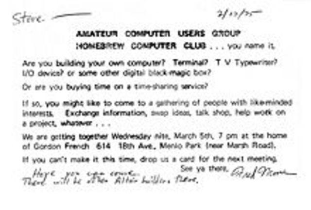 Homebrew Computer Club en Silicon Valley,