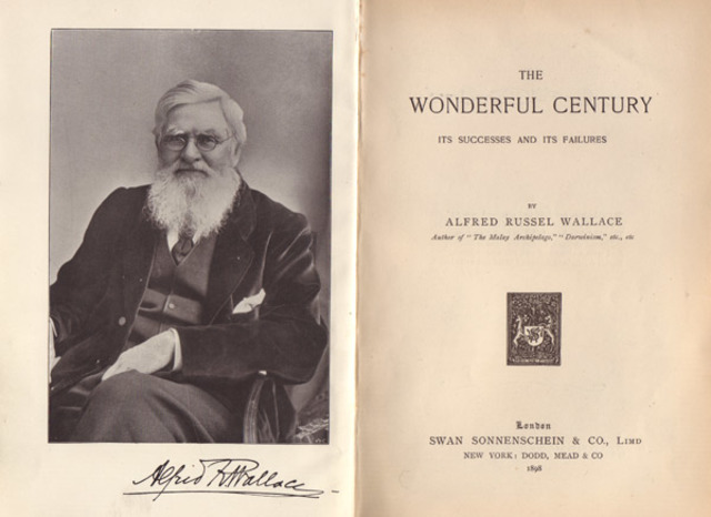 Wallace publicó: The wonderful century: its successes and its failures.