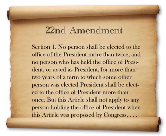 The 22nd ammendment