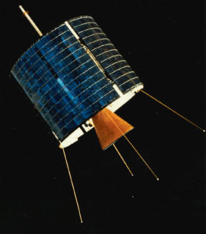 Intelsat 1 goes into service