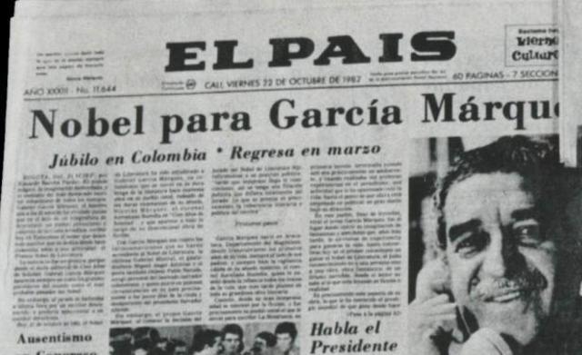 Gabo recibe el Premio Nobel de Literatura