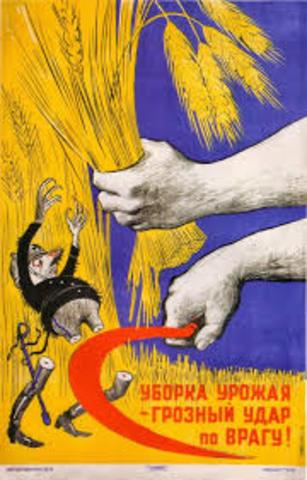 Stalin decide colectivización forzada de la tierrra