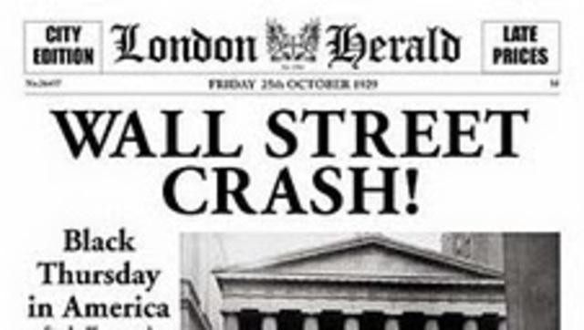 Crisis de panico en Wall Street