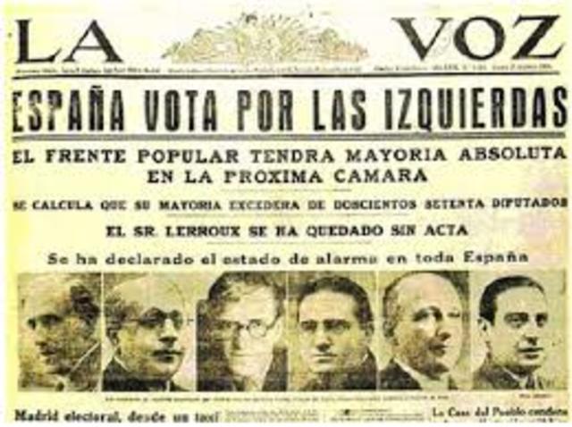 Triunfo del Frente Popular en España