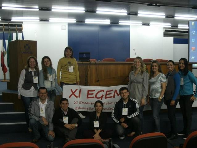 Participação no Encontro Gaúcho de Educação em Matemática
