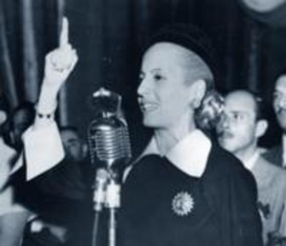 Eva Peron first lady of Arhentina.