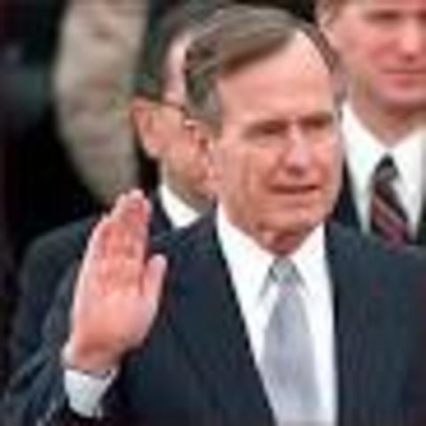 George H. W. Bush Becomes President