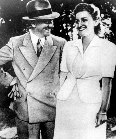 Hitler met his wife Eva Braun