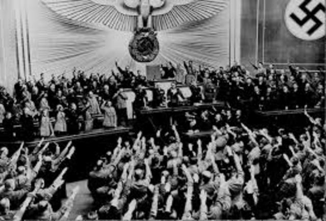 Nazi party was declared the only legal party in Germany