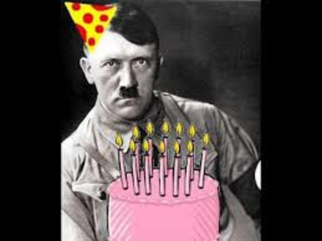 Hitler celebrates his 56th birthday in a bunker below the reich chancellery