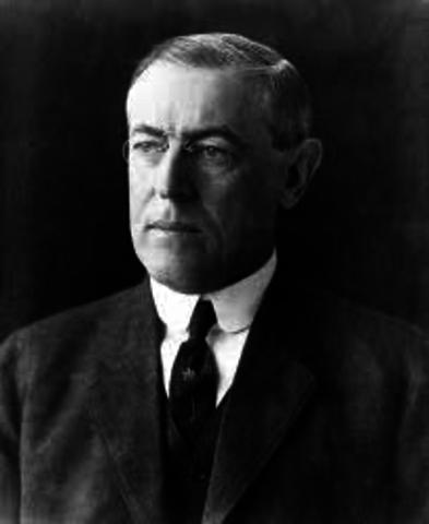 Woodrow Wilson (1913-1921)