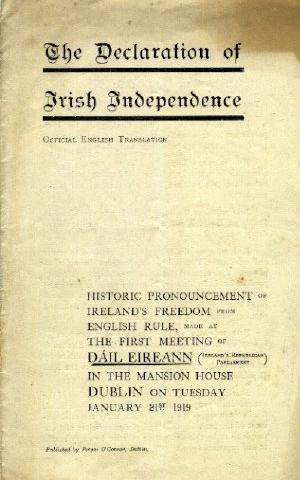 Den irske uafhængighedserklæring