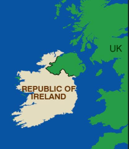 Irsk/britisk traktat vedtages