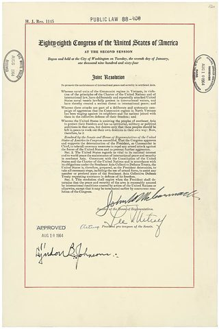 Gulf of Tonkin Resolution - U.S. Military Involvement in Vietnam