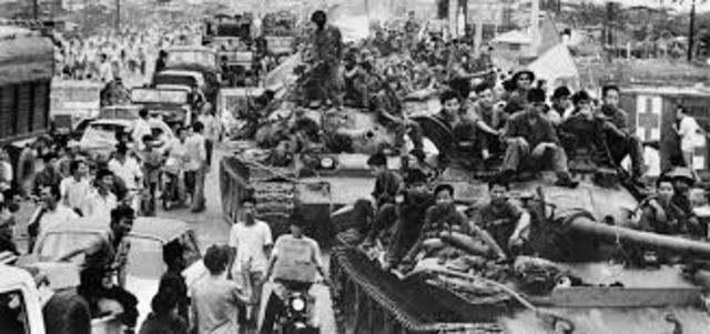 Vietnam War Ends, Saigon Surrenders to Communistsm as U.S. Evacuates
