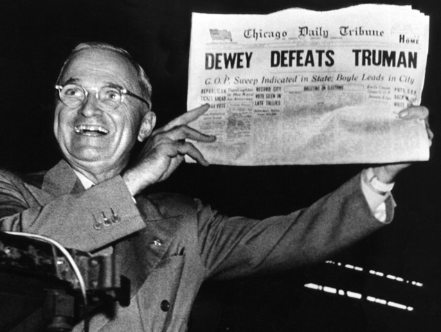 Harry Truman Wins Election and Ends Aid to GMD