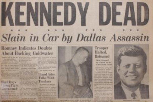 Asesinan a Kennedy en EEUU