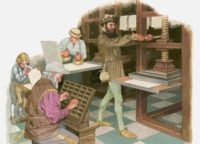 Siglo XV La Imprenta, Etapa de la Imprenta. Comienza la era mundial de los escritos.