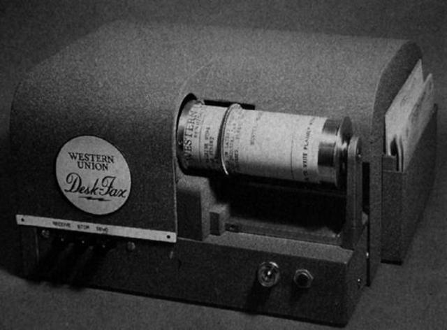 1.863 Aparecio la primera maquina comercial El Fax