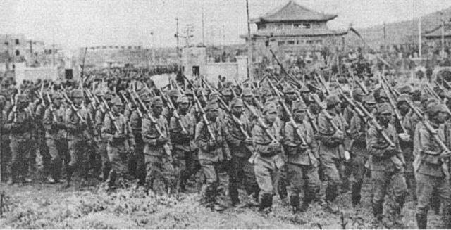Japan invades China
