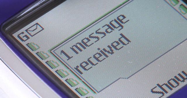En 1992 Mensaje de texto de celular.