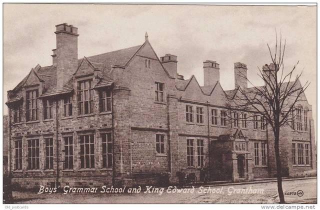 Newton Attends Grantham Grammar School