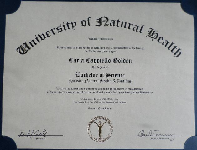 Newton Recieves Bachelor's Degree