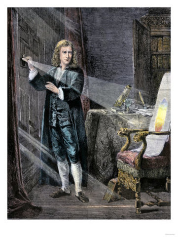Newton Gives First Lectures in Optics