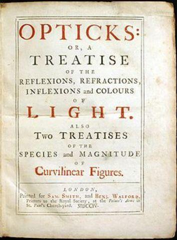 """Newton Publishes """"Opticks"""""""