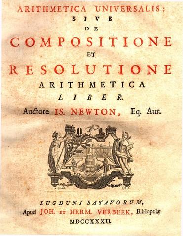 "Newton Publishes ""Arithmetica Universalis"""