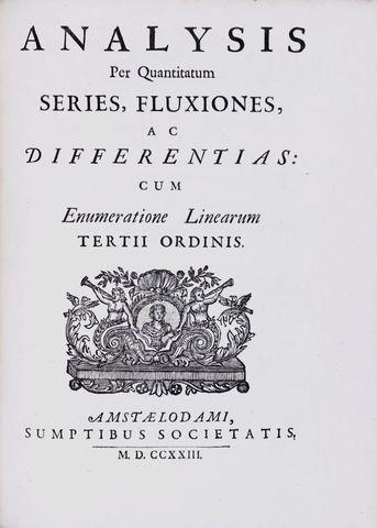 """Newton Publishes """"Analysis per Quantitatum"""""""