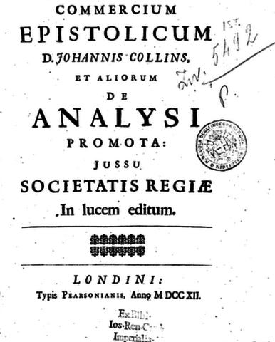 """Newton Publishes """"Commercium epistolicum"""""""