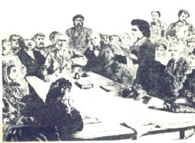 The first gathering devoted to women's in Seneca Falls, New York