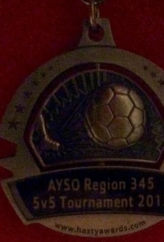 Agosto 12, 2014: El año pasado en agosto mi fútbol equipo ganó un torneo de fútbol en el parque de Okeeheelee .