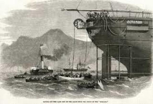 The Transatlantic Telegraph cable