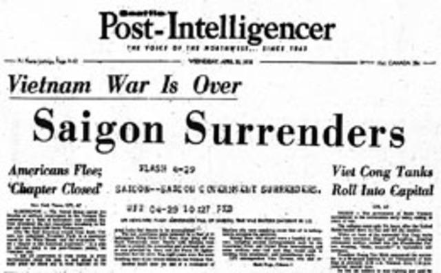 South Vietnam Surrenders