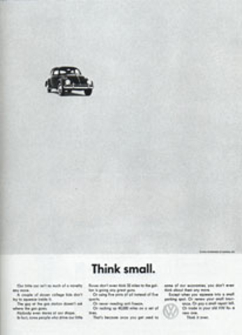 First Volkswagon Ad