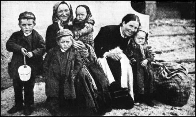 The Irish Immigration (potato famine)