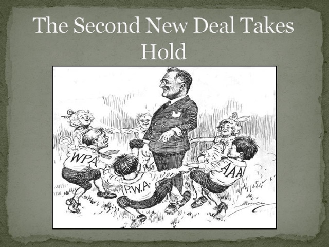 Roosevelt' second phase of New Deal