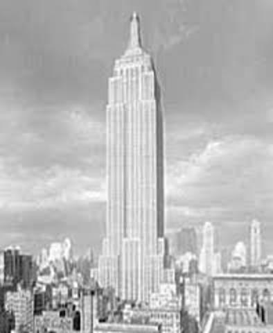 The Empire State Building opens.