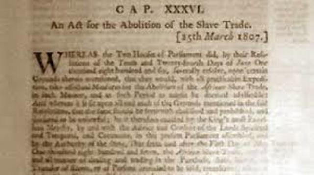 Congress bans the African Slave trade
