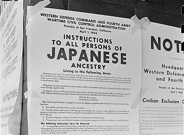 People of Japanese Ancestry in US are Sent to Camps