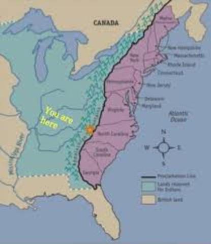 Proclaimation Line of 1763